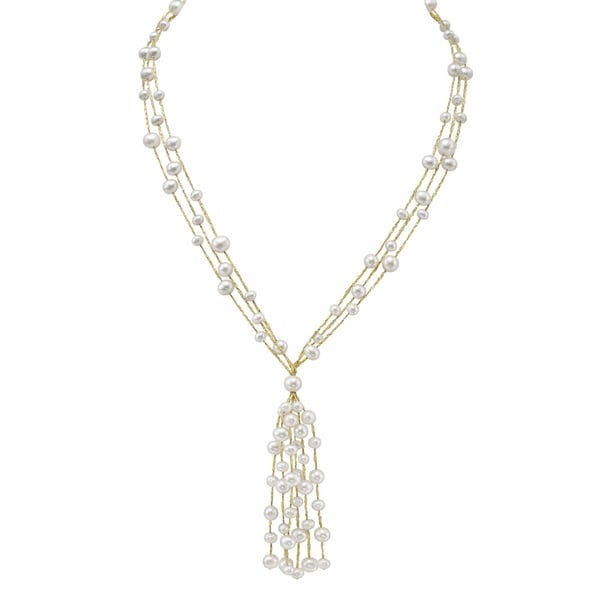 Shop Pearlyta Sterling Silver White Freshwater Pearl
