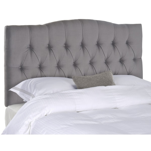 Shop Safavieh Axel Arctic Grey Upholstered Tufted