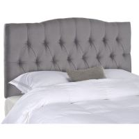 Shop Safavieh Axel Arctic Grey Upholstered Tufted ...