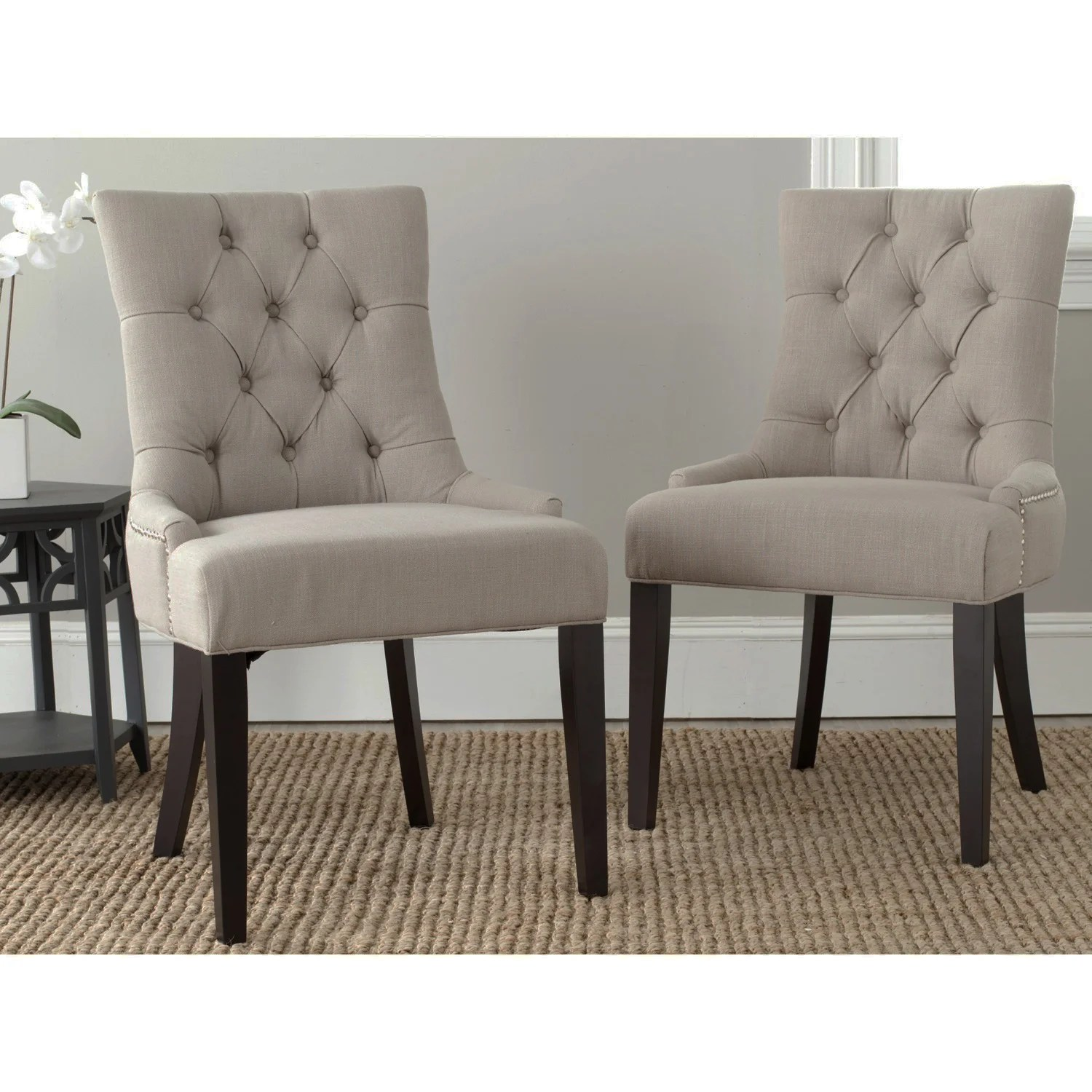 Overstock Chairs Safavieh Ashley True Taupe Side Chairs Set Of 2