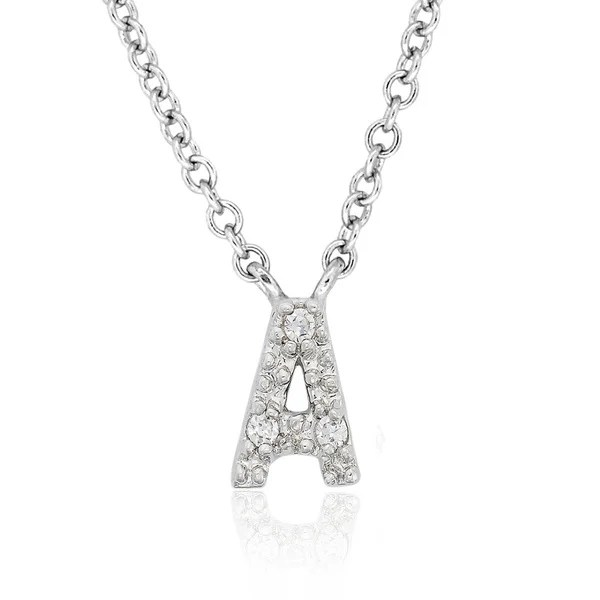 Shop Molly and Emma Sterling Silver Children's CZ A to Z