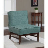 Ella Walnut Aqua Slipper Chair - Free Shipping Today ...