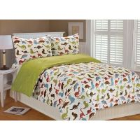 Shop Noah Dinosaur Printed Microplush 3-piece Comforter ...