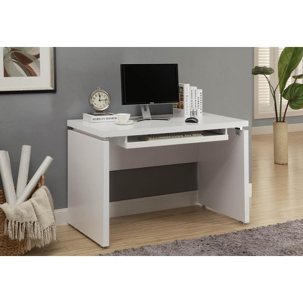 White 48inch Long Computer Desk  Free Shipping Today