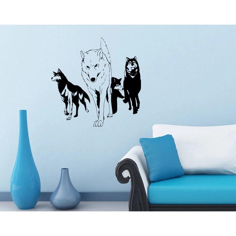 'Anime/ Manga Pack of Wolves' Vinyl Decal Wall Art Mural