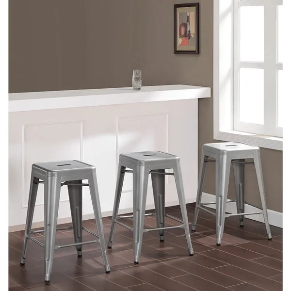 24 inch counter chairs windsor dining table and shop carbon loft tabouret metal stools set of 3
