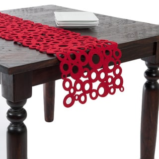 Shop Red Felt Table Runner Free Shipping On Orders Over