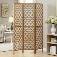 Gold Frame 3-panel 'Lantern Design' Folding Screen - Free ...