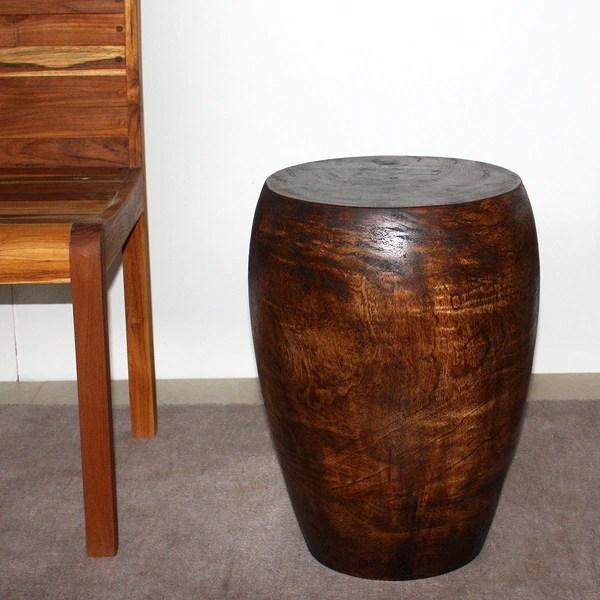 sofa table 84 inches rattan effect set with cushions [handmade] mango merlot 13-inch diameter top x 20-inch ...