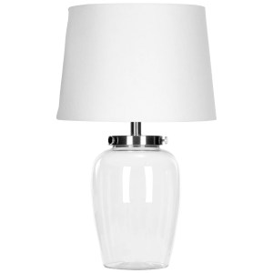 Safavieh Lighting 22.5-inch Evan Clear Glass Table Lamp
