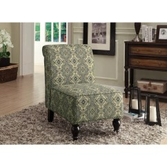 Turquoise Accent Chairs Wooden Office Blue Tapestry Fabric Traditional Chair