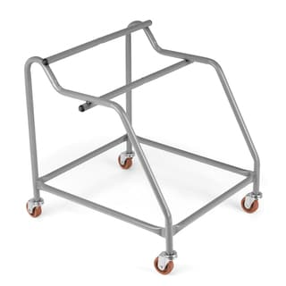 folding chair dolly 50 capacity portable office safco black two-tier steel cart (stores up to 84 chairs) - 12581178 overstock ...
