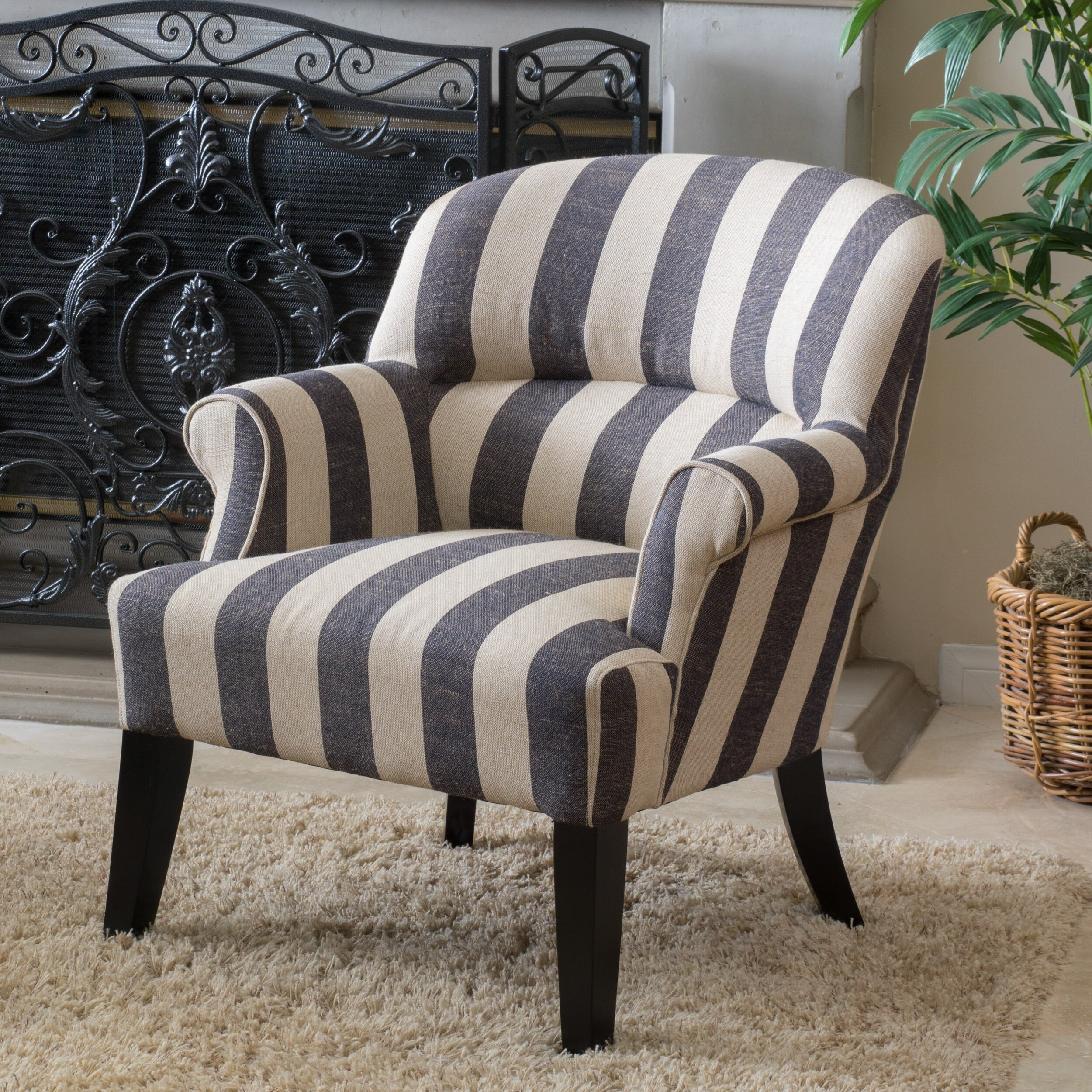 christopher knight club chair heavy duty kitchen chairs home amelie blue stripe fabric