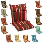 Blazing Needles 20 X 42 Indoor Outdoor Sectioned Chair Cushion Overstock 8366222