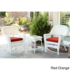 Home Goods Dining Chair Cushions Modern Comfortable Chairs 3-piece White Wicker Bistro Set - Free Shipping Today Overstock.com 15674356