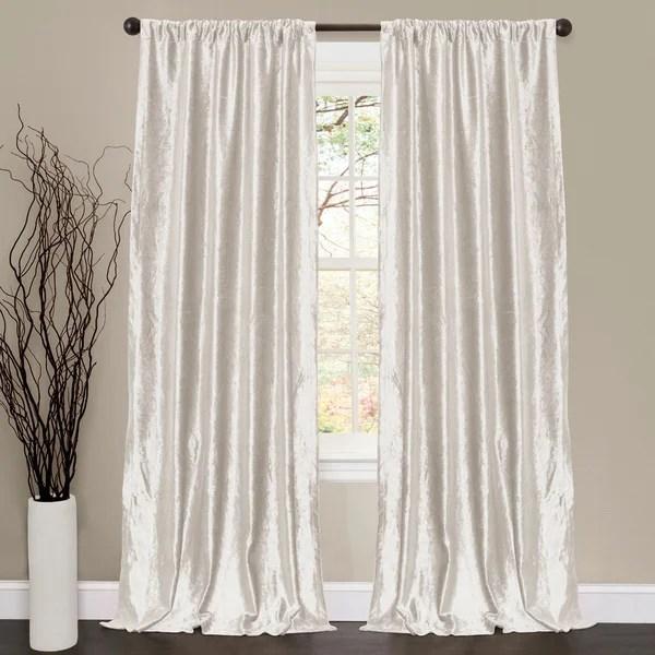 Lush Decor Velvet Dream White 84inch Curtain Panel Pair