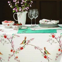 Shop Lenox Chirp Stain Resistant Tablecloth   Overstock ...