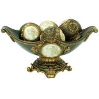 Shop Handcrafted Bronze 8-inch High Decorative Bowl with ...