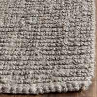 Safavieh Casual Natural Fiber Hand-Woven Light Grey Chunky ...