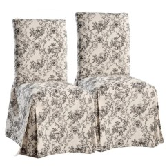 Grey Parson Chair Slipcovers Wedding Chairs Hire Hertfordshire Shop Classic Toile Dining Set Of 2