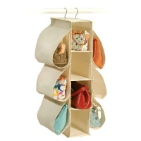 Richards Homewares Canvas Hanging Purse Organizer ...