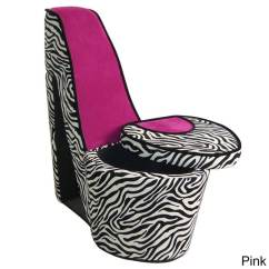 Pink High Heel Chair Steel Frame Design Zebra Print Ebay Details About