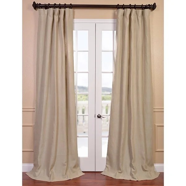 exclusive fabrics natural french linen lined curtain panel free