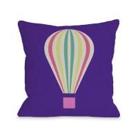 Shop Hot Air Balloon Throw Pillow - On Sale - Free ...