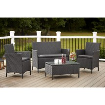 Cosco Outdoor Jamaica 4-piece Resin Wicker Conversation