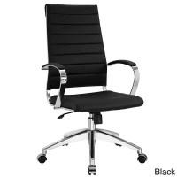 Black Vinyl Jive Ribbed High Back Executive Office Chair ...
