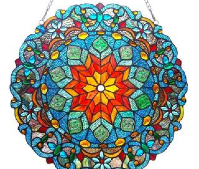 Buy Stained Glass Panels Online At Overstock Com Our Best Window Treatments Deals