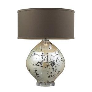 Limerick 1-light Turrit Gloss Beige Table Lamp