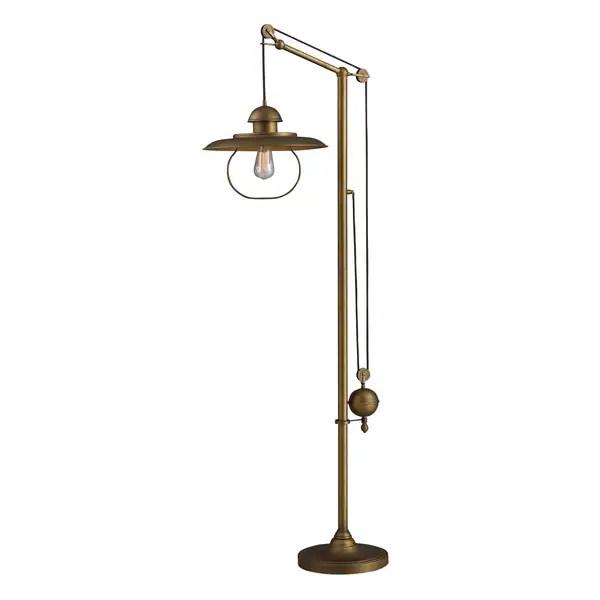 Shop Farmhouse Antique Brass Floor Lamp