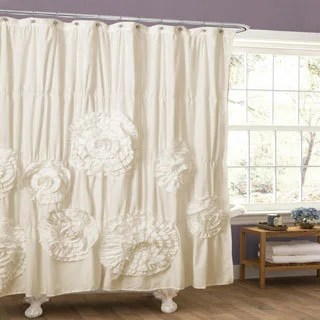 White Shower Curtains Overstock Com Vibrant Fabric Bath Curtains