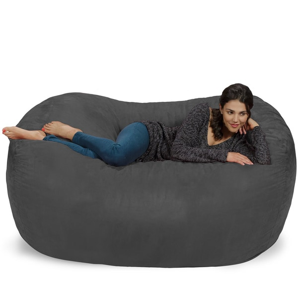 Large Memory Foam Micro Suede Beanbag Couch