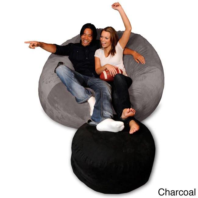 foam bean bag chair lift recliner 6 foot memory ebay