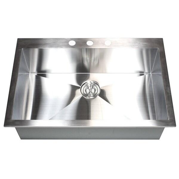 Kitchen Mount Gauge 16 Stainless Top Sink