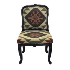 Tub Fabric Accent Chair Patchwork Folding Bistro Chairs Shop Handmade Tristan Kilim Upholstered Armless India Free Shipping Today Overstock Com 8497662
