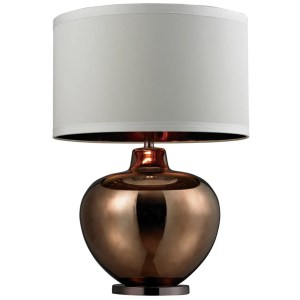 1-light Oversized Blown Glass Bronze Table Lamp