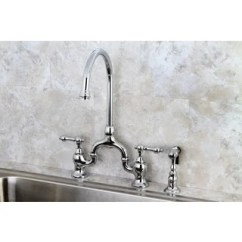 Vintage Kitchen Faucet Japanese Knife Buy Faucets Online At Overstock Com Our Best Polish Chrome High Spout Bridge With Side Sprayer