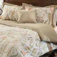 Comosetti Beige Linen Paisley Reversible Cotton 5-piece ...