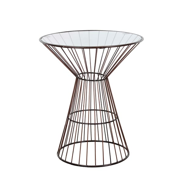 Metal Wire Accent Table