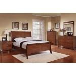 Shop Black Friday Deals On Sunny Honey Oak Sleigh Bed 5 Piece Bedroom Set Overstock 8530448