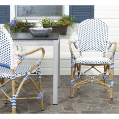 Blue Bistro Chairs Restaurant Dining Shop Safavieh Rural Woven Hooper White Indoor Outdoor Arm Set Of 2 Free Shipping On Orders Over 45 Overstock Com 8540562