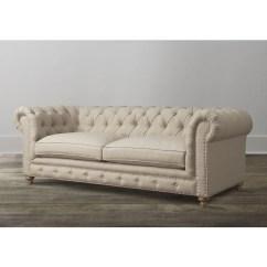 Ralph Lauren Home Chesterfield Sofa Reverse Sectional Oxford Beige Linen - 15824647 Overstock.com ...