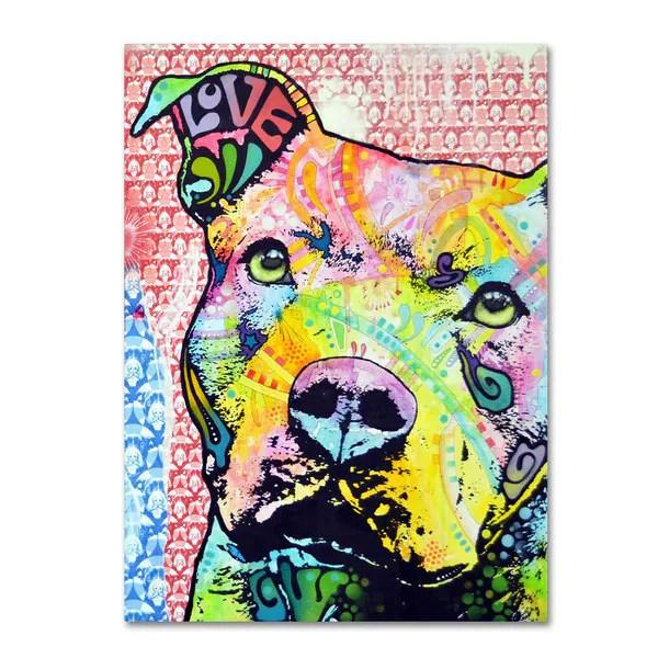 Shop Dean Russo Thoughtful Pitbull II Canvas art  Free