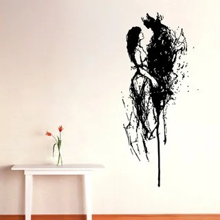 Shop Abstract Couple Vinyl Wall Decal  Free Shipping On