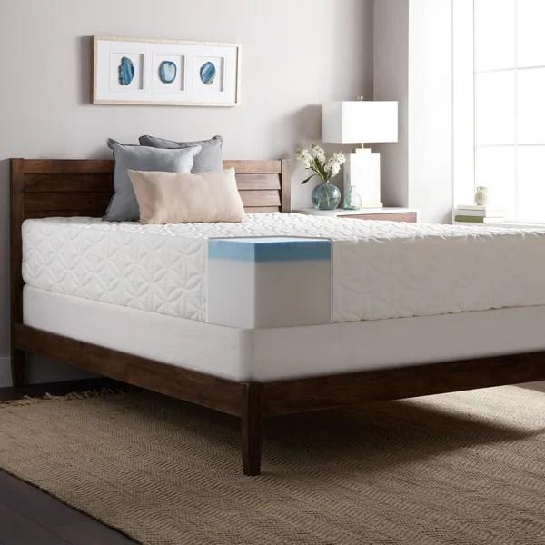 Select Luxury Gel Memory Foam 12 Inch King Size Medium Firm Mattress And Foundation Set