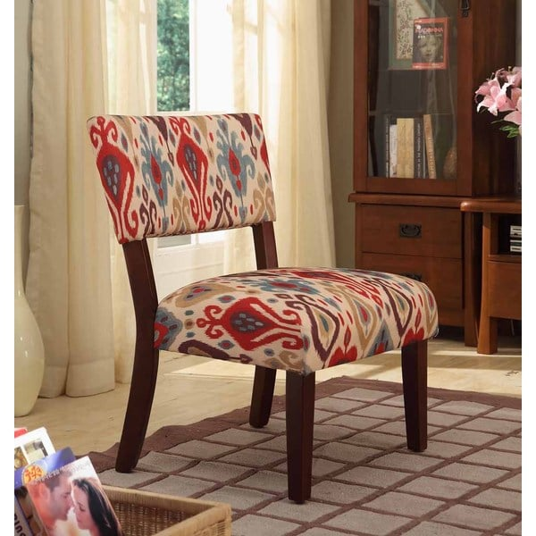 colorful accent chair farm style dining table and chairs shop homepop multicolor ikat large - free shipping today overstock.com 8549801