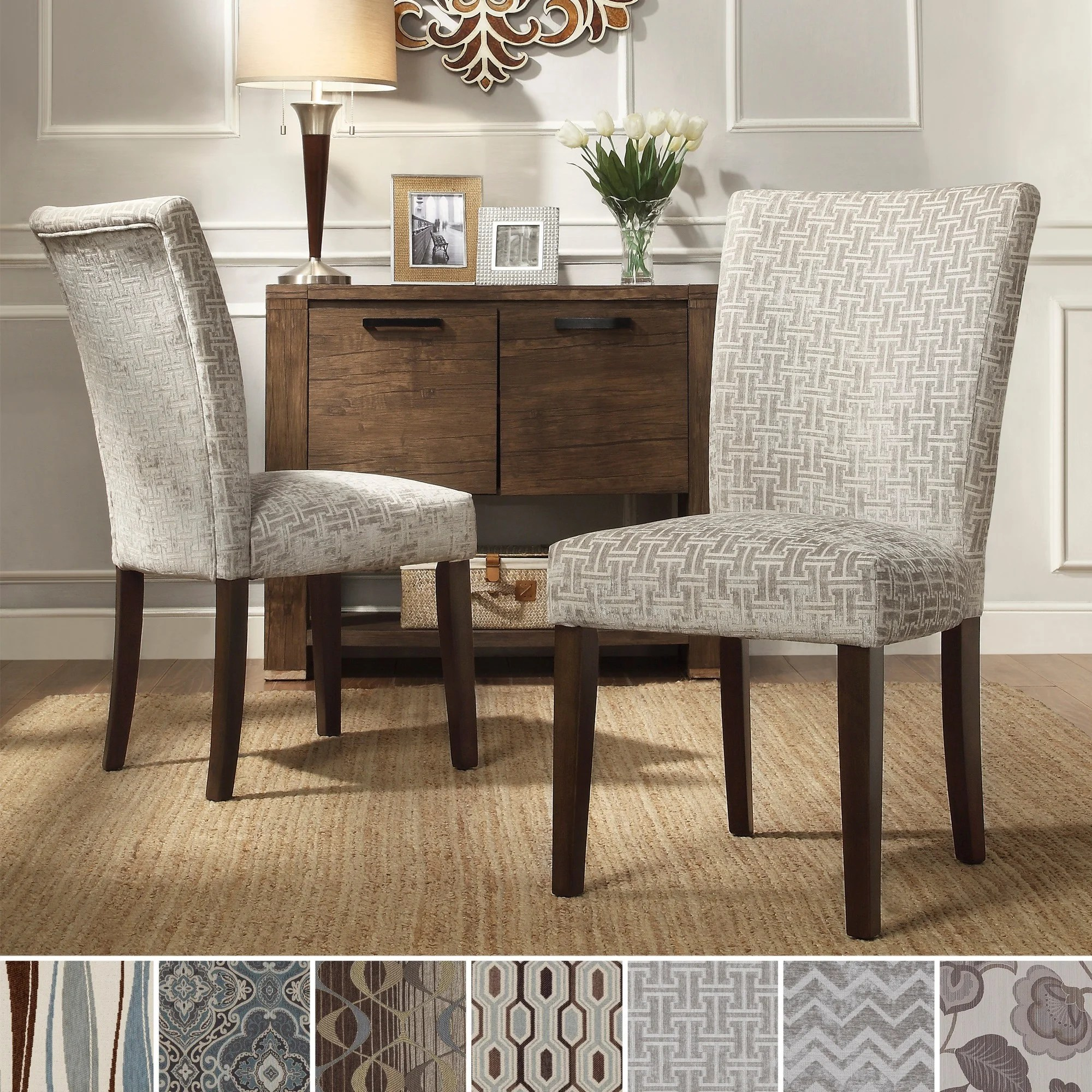 Print Parsons Chair Inspire Q Catherine Print Parsons Dining Side Chair Set